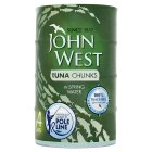 John West Tuna Chunks in Spring Water - drained 4x112g