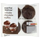 essential Waitrose double chocolate muffins - 4s