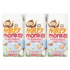 Happy Monkey milkshakes strawberry - 3x200ml