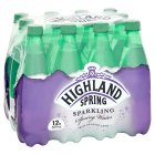 Highland Spring, spring sparkling water, 12 pack - 12x500ml
