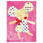 Dotty Mouse Birthday Card - 1x1each