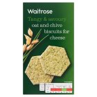 Waitrose oat and chive biscuits for cheese - 150g