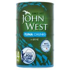 John West Tuna Chunks in Brine - drained 4x112g