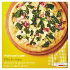 Waitrose stone baked spinach & goats cheese pizza - 398g