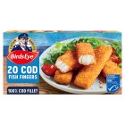 Birds Eye 20 cod fish fingers frozen - 560g