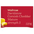 Waitrose Cornish Cheddar Mature Strength 5 - 550g