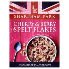 Sharpham Park Cherry & Berry Spelt Flakes - 375g Introductory Offer
