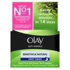 Olay anti-wrinkle sensitive nightcream