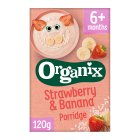Organix strawberry banana porridge - 120g Introductory Offer