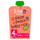 Ella's Kitchen Organic peaches pear + baby rice - stage 1 baby food - 120g Brand Price Match - Checked Tesco.com 09/07/2014