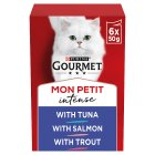 GOURMET Mon Petit Adult Cat Tempting Original Menu Wet Cat Food Pouch - 6x50g