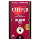 Cafépod Colombia lungo 10 capsules strength 9 - 52g