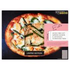 Waitrose 1 wood-fired hot smoked salmon & asparagus sourdough pizza - 315g