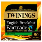 Twinings organic Fairtrade breakfast 80 tea bags - 200g