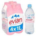 Evian natural mineral water - 4x1litre Brand Price Match - Checked Tesco.com 02/03/2015