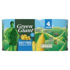 Green Giant canned sweetcorn no added salt, 4 pack - drained 4x165g