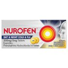 Nurofen 16 day & night, cold & flu tablets - each