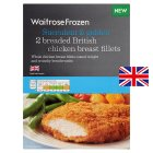 Waitrose breaded British chicken breasts - 325g