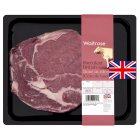 Waitrose British beef bone in rib eye -