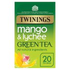Twinings mango & lychee green tea 20 tea bags - 40g Brand Price Match - Checked Tesco.com 16/04/2015