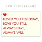 Our Anniversary Card - each