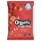 Organix strawberry rice cakes - 50g
