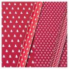 essential Waitrose 4m gift wrap flake/tree - 4m