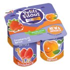 Petits Filous strawberry & apricot fromage frais - 4x85g Brand Price Match - Checked Tesco.com 29/10/2014