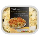 Waitrose cheesy potato & leek bake - 400g