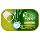 John West sardines in olive oil - drained 90g Brand Price Match - Checked Tesco.com 01/07/2015