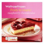 Waitrose Frozen raspberry cheesecake - 550g