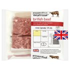 essential Waitrose British mince beef| percentage fat content under 10% - 250g