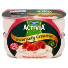 Danone Activia intensely creamy raspberries & cream - 4x110g Brand Price Match - Checked Tesco.com 16/04/2014