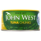 John West pole & line caught tuna chunks in sunflower oil - 185g Brand Price Match - Checked Tesco.com 04/12/2013