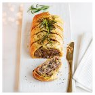Pork, leek & chestnut stuffing lattice -