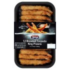 Young's 12 breaded torpedo king prawns - 192g