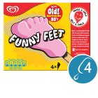 Funny Feet strawberry 4 pack ice cream lolly - 4x79ml Brand Price Match - Checked Tesco.com 23/07/2014