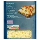 Waitrose grated mozzarella strength1 extra mild - 125g