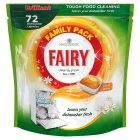 Fairy Clean & Fresh Citrus Grove Dishwasher Tablets 72 pack - 1183g