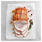 Butter basted turkey breast & thigh wrapped in bacon -