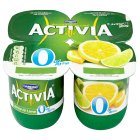 Activia 0% fat free lemon & lime yogurts