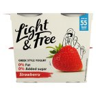 Danone Light & Free Greek Style Yogurt Strawberry - 4x115g