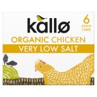 Kallo 6 chicken stock cubes very low salt - 48g
