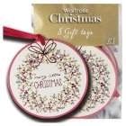 Waitrose Christmas merry Xmas gift tags - 8s