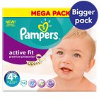 Pampers Active Fit Sz 4+ Mega 74 Nappies - 74s