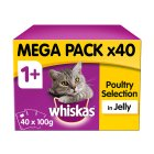 Whiskas 1+ Years Poultry Selection in Jelly - 40x100g