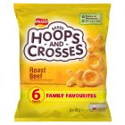 Walkers Hoops & Crosses roast beef multipack crisps - 6x18g Brand Price Match - Checked Tesco.com 28/07/2014