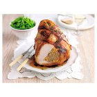Free Range turkey breast on the bone with pork and apricot stuffing -