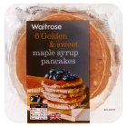 Waitrose 6 maple syrup pancakes - 240g