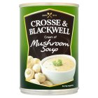 Crosse & Blackwell cream of mushroom soup - 400g